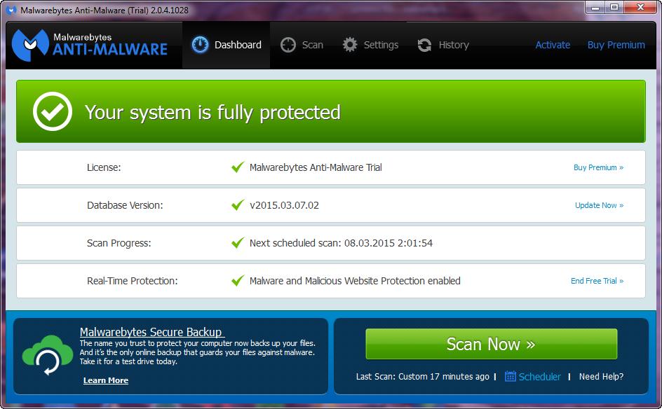 ✖ Testing Malwarebytes Anti-Malware - covert-pro com